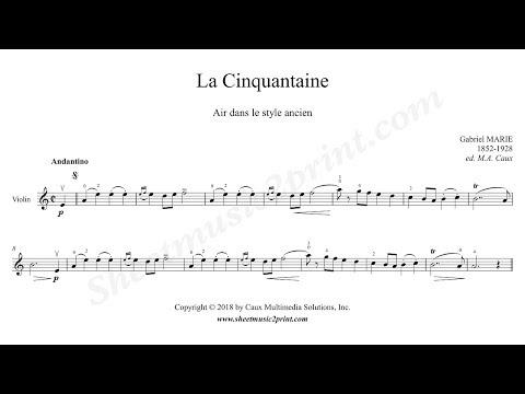Gabriel Marie : La Cinquantaine - Violin
