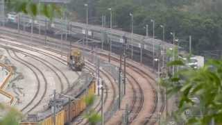 {ICTT} KTT Through Train ( Z825 ) passing outside MTR Lo Wu Yard