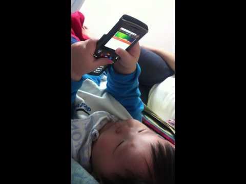 아기 플립폰 휴대폰 음악 듣기