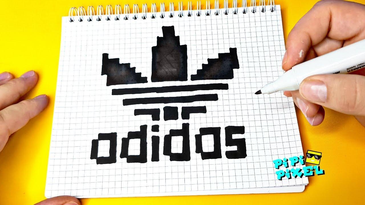 Adidas по клеточкам легко нарисовать Pixel Art как нарисовать рисунки по клеточкам