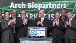 Arch Biopartners Inc. (TSX-V:ACH) opens TSX Venture Exchange, March 30, 2015