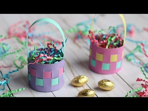 How To Make A Mini Paper Easter Basket 🐰Easter Egg Holder 🐣