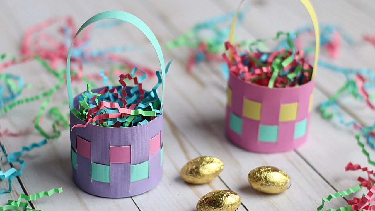 How to make a mini paper easter basket easter egg holder youtube how to make a mini paper easter basket easter egg holder negle Images