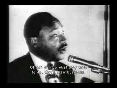 Rev. Dr. Martin Luther King, Jr. on his morals