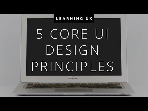 5 Core UI Design Principles | Keep Learning UX