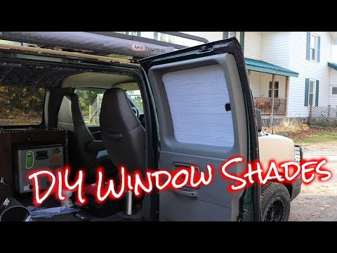 How to make cheap easy window shades for vans/cars  DIY