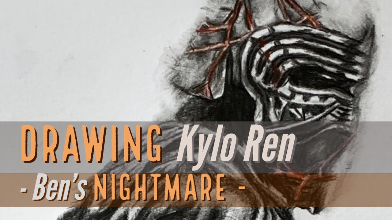 Drawing Kylo Ren from Star Wars IX: The Rise of Skywalker - Ben's Nightmare
