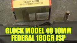 The BEST 10mm bear load? Glock Model 40 Federal JSP 180gr review