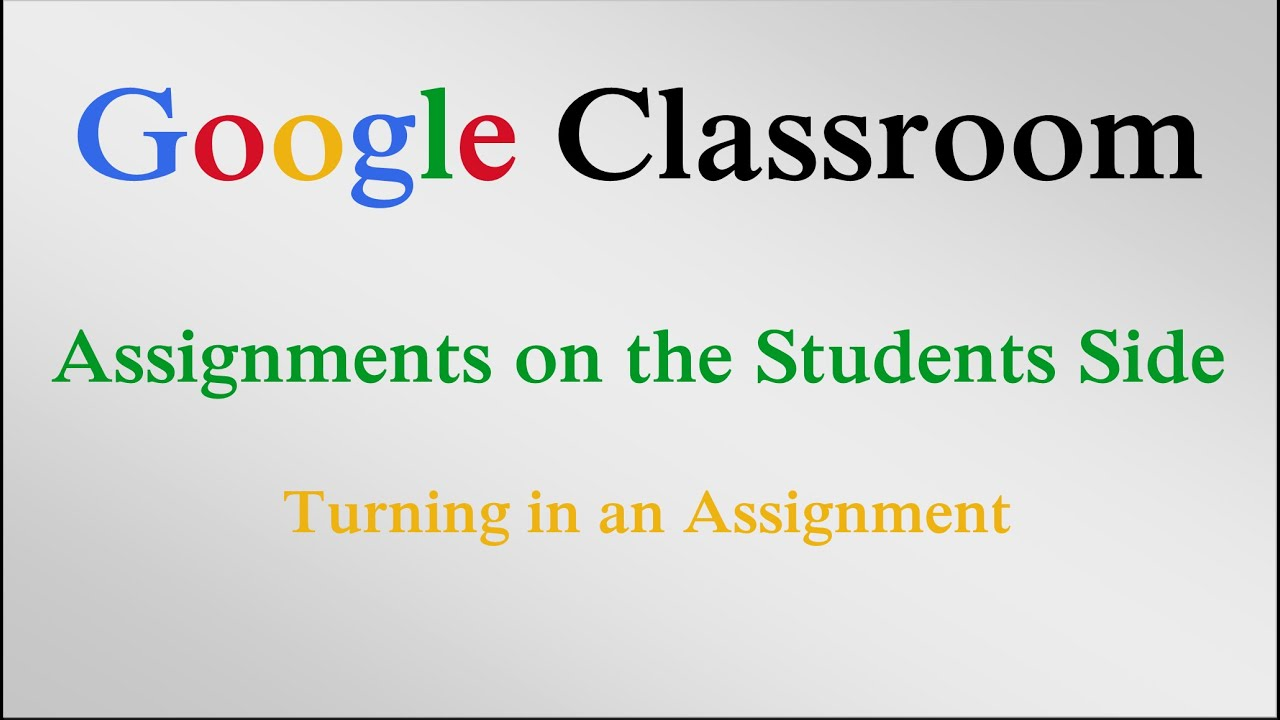 assignment about google How do i upload a file as an assignment submission in canvas  if you have access to upload a file from google drive, you can submit a google file by clicking the google doc tab [3] add another file if you need to upload another file, click the add another file link.