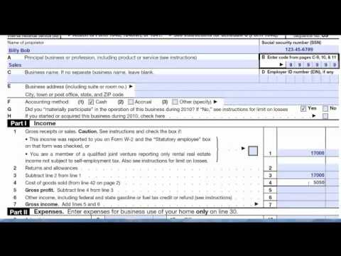 Schedule C Form  Tax Return Preparation By