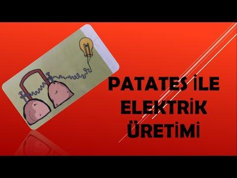 Patatesten Elektrik Üretimi - Patates Pili Yapımı
