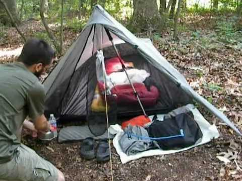 Ultralight Backpacking Tarp Tent Contrail & Ultralight Backpacking Tarp Tent Contrail - YouTube