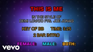 Demi Lovato ftg. Joe Jonas - This Is Me (Karaoke)