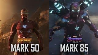 Iron Man Mark 50 - 85 Suit Up Scenes - Avengers: Infinity War - Endgame