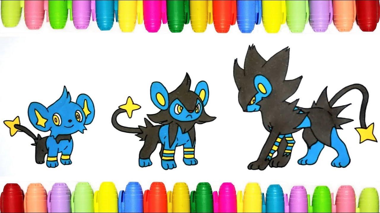 Pokemon Coloring Shinx Luxio And Luxray Youtube