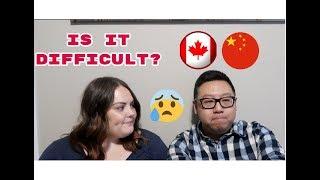 Interracial relationship tag (AMWF) Chinese/Canadian 異國戀愛問答視頻(亞裔男生白人女生) Video