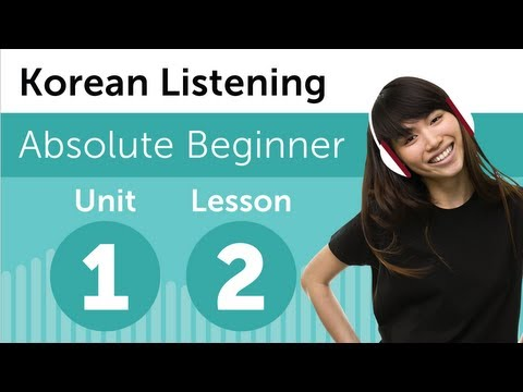 Luyện nghe tiếng Hàn - Bài 2 : Tại nhà hàng