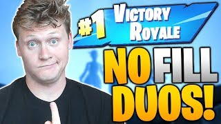 CAN I WIN A NO FILL DUO? FORTNITE: BATTLE ROYALE!