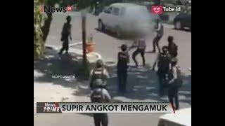 Video Amatir Seorang Supir Angkot Mengamuk & Mengancam Menikam Polisi - iNews Prime 11/09