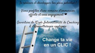❤ Change ta vie en CLIC - Semaine immersion 1ère école en alternance aromathérapie offerte ❤