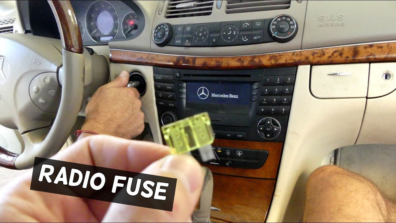 MERCEDES W211 RADIO FUSE REPLACEMENT  YouTube