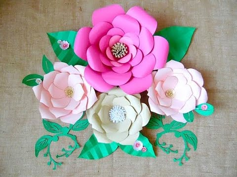 large backdrop paper flower tutorial
