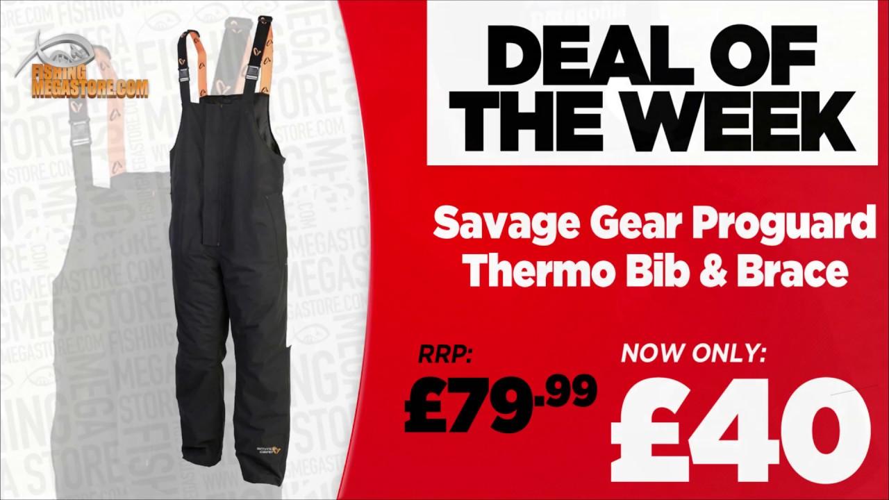 XL Schwarz Thermohose Winterhose Savage Gear ProGuard Thermo B/&B Gr