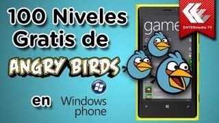 100 niveles de Angry Birds gratis en Windows Phone.