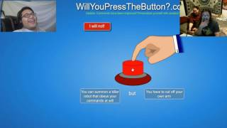 SACRIFICE AN ARM FOR A KILLER ROBOT!? | Will You Press The Button With Eric And Ember