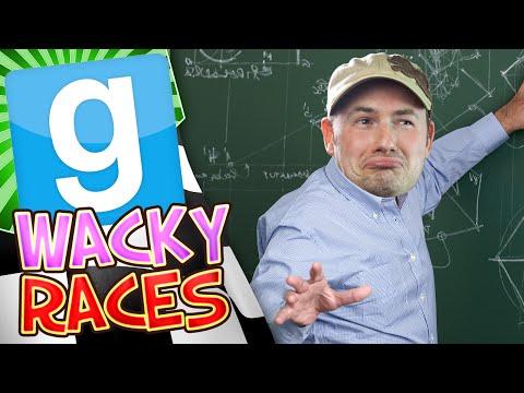 Garrys Mod Wacky Races #1 - Dr Spooky Car (Gmod Build Challenge)