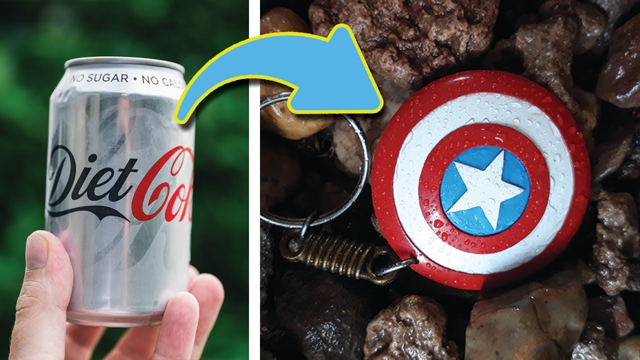 Make a Captain America ShielD! By usign waste cold drink can! best out of waste by AtR Tariq Raza.