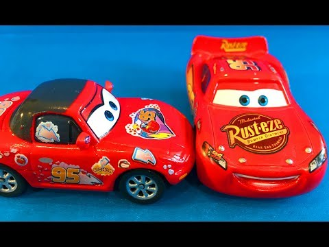 Тачки Молния Маквин и Фанатка Мультик про Машинки для Детей Cars Lightning McQueen