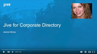 Using Jive as a Corporate Directory