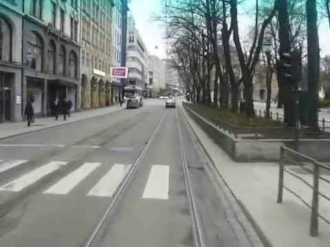 Driving a Bus through Oslo City Centre.