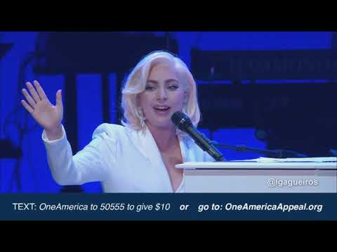 HD - Lady Gaga | One America Appeal | Million Reasons / You and I / The Edge of Glory