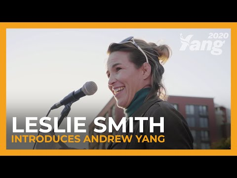 UFC Fighter Leslie Smith Introduces Andrew Yang In San Francisco