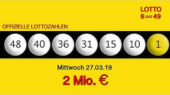 Lottozahlen 27.03.19 Lotto6aus49