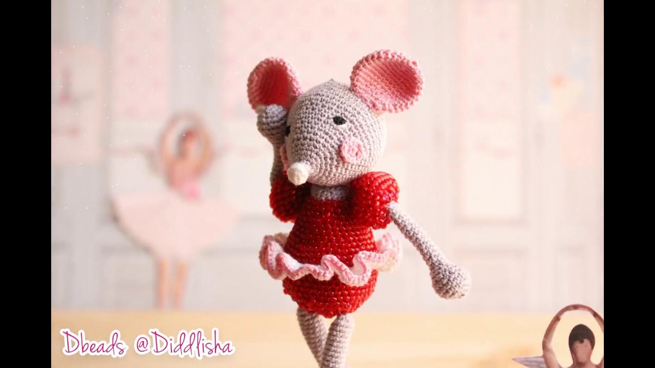 diddlisha crochet Dbeads mouse crochet with beads - YouTube