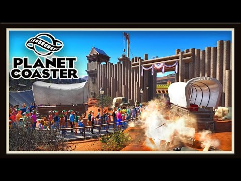 Planet Coaster: Disguising A Ride In An Old West Fort   (Season 2 - part 16)