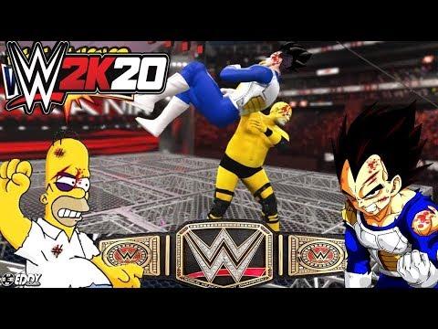 WWE 2K19: Homero VS Vegeta - WRESTLEMANIA 35: Fight For Honor - (WWE Universal Championship)