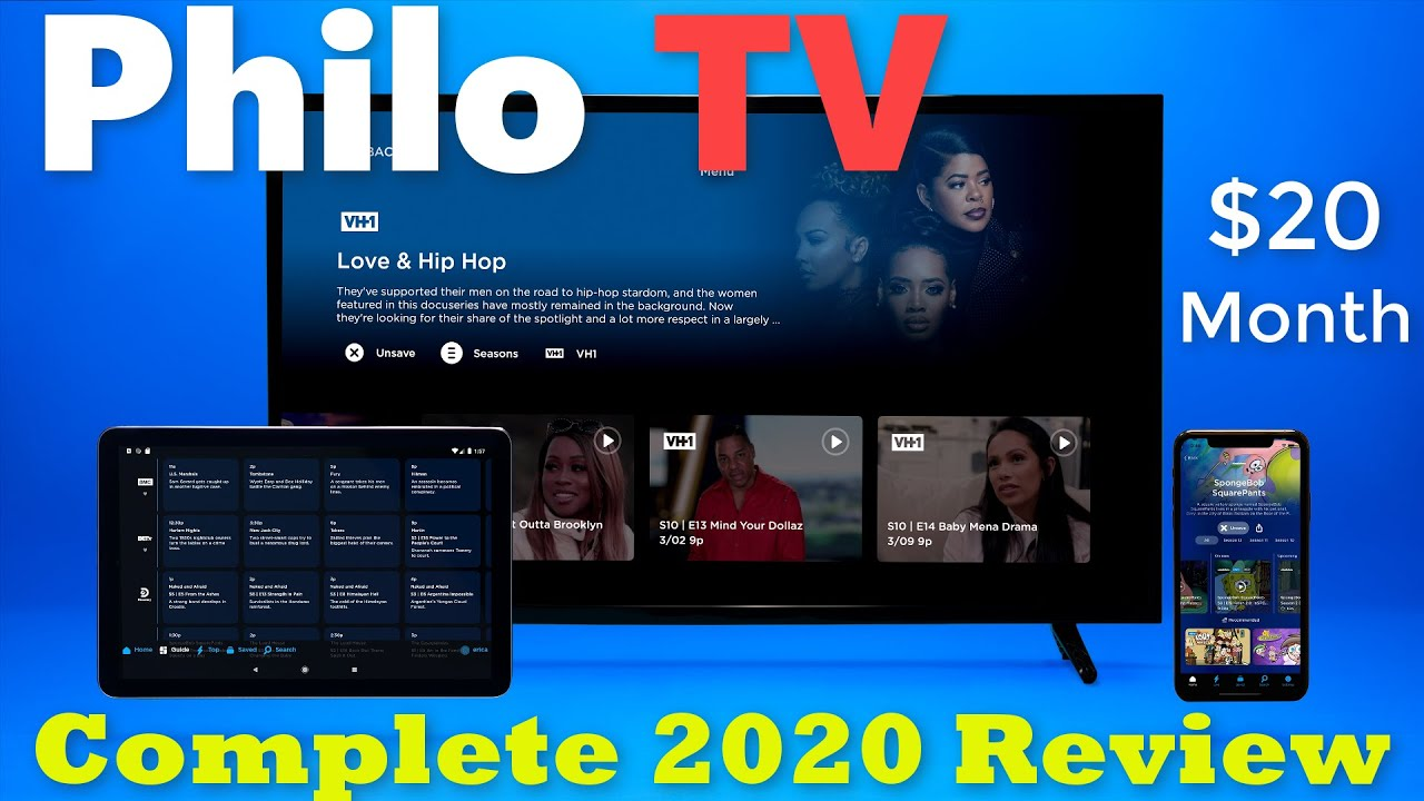 Philo TV Review for 2020 | Live & on-demand TV 50+ channels $20/month Unlimited DVR. No Contract.