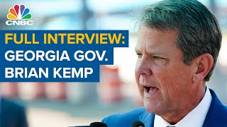 Watch CNBC's full interview with Georgia Gov. Brian Kemp on voter law backlash