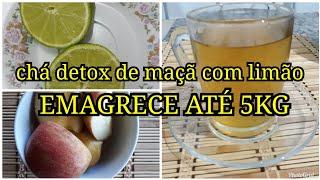 Chá detox de maçã e limão para eliminar 4 kg em 15 dias