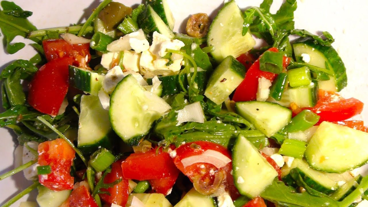 griechischer salat rezept fetasalat tipp von einfachkochen youtube. Black Bedroom Furniture Sets. Home Design Ideas