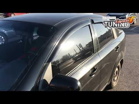 Ветровики окон Шевроле Авео 3 Т250 / Дефлекторы Chevrolet Aveo 3 T250 седан / Тюнинг авто