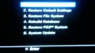 PS3 Firmware 2.50 Hidden Recovery Menu