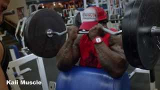 strong as an african rhino back biceps