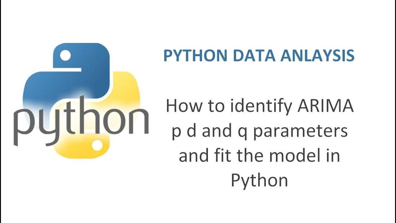 How to identify ARIMA p d and q parameters and fit the model in Python