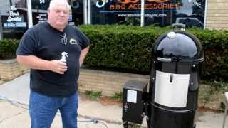 bbq ribs with the wsm pellet burner conversion kit