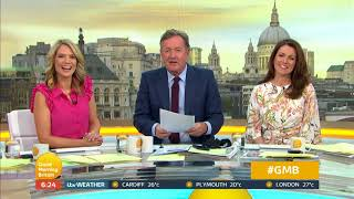 Piers Has Shin Pads Because of Charlotte's Kicking | Good Morning Britain